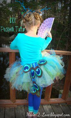 DIY Peacock Costume: