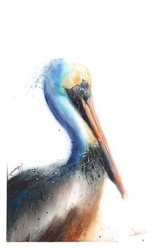 Life is just better with animals around! Light up your room and spirit with this colorful fine art print of my original pelican watercolor painting. I love watching these majestic birds fly over the surf as it always brings a sense of peace. I hope you enjoy this very meaningful artwork!  ________________________________________________________  SIZE: choose the size that best fits your budget SIGNED by the artist MEDIA: fine art print (the original was created using watercolor paint)…