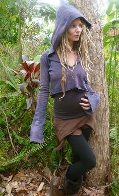 Dark Earth Hemp Fleece Pixie Hoodie by Wyldeskye on Etsy, $85.00