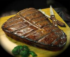 Oh my goodness. I want this for my bday. Kind of. But I want it to be an actual steak, followed by cake. Yeah.