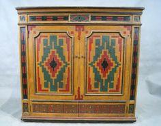 Hand painted SW design vintage radio/bar cabinet