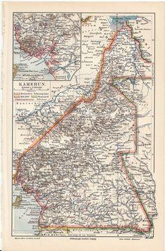 Map of Kamerun Africa 1900 #map #kamerun #africa