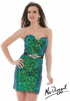 2013 MacDuggal Cocktail Form Fitted Dress 85235T