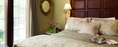 Luxurious Savannah bed and breakfast accommodations: main inn has 4 queen rooms, 3 king rooms & king suite; Cottage Garden House has 1 king & 2 queen rooms