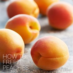 Freeze peaches to enjoy their summery, juicy goodness throughout the year. Now you can buy peaches at farmer's markets or when they're on-sale in the grocery store and freeze them to enjoy as a peach cobbler or other peach-filled treat any time.