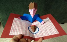 Piece of Cake pop-up card (modified template from Pop-up Design and Paper Mechanics)