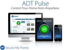 Control your home from anywhere with ADT Pulse!  Call 888.908.3006 | www.securemyhome.com  #HomeSecurity #ADT #HomeSafety #SecureMyHome
