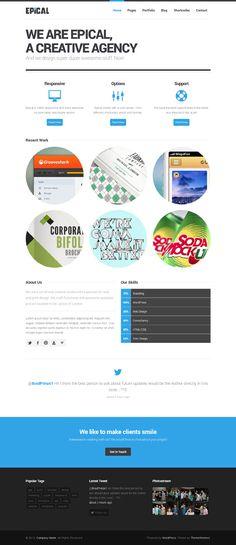 Epical, #WordPress Responsive Business Portfolio Theme