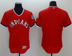 7a614055c Indians Blank Red Flexbase Authentic Collection 1978 Turn Back The Clock  Stitched MLB Jersey