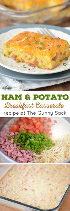 A Ham and Potato Breakfast Casserole is perfect for breakfast or brunch. This easy egg bake recipe includes ham, potatoes, cheese and Bisquick! #GetYourBettyOn #ad
