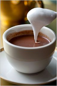 Coconut hot chocolate. Photo: Andrew Scrivani for The New York Times