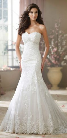 David Tutera for Mon Cheri Fall 2014 Bridal Collection - Belle the Magazine . The Wedding Blog For The Sophisticated Bride #eidelprecious