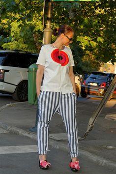 Striped Pants, Glamour, Street, Model, Tops, Fashion, Moda, Stripped Pants
