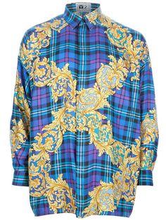 Men's Fashion and Style Aficionado: Vintage Versace Tartan Shirt.... MIRACLE