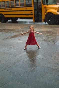 Dancing in the rain like no one is around and ya just don't care if they are!!!!