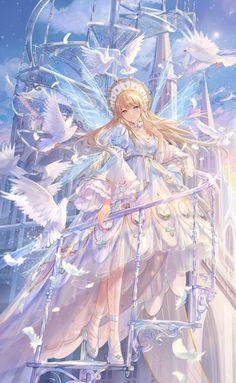 Pretty Anime Girl, Beautiful Anime Girl, Kawaii Anime Girl, Anime Art Girl, Blonde Anime Girl, Character Art, Character Design, Beautiful Dark Art, Anime Princess