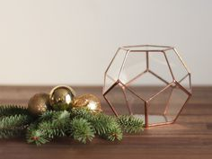 Little Geometric Terrarium / Dodecahedron / Handmade Glass Planter / Modern Planter for Indoor Gardening / Stained Glass Terrarium (55.00 USD) by Waen