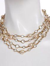 """Vintage Chanel Faux Pearl + Gripoix LONG (62"""") Necklace #bag #jacket"""