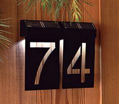Lit house number