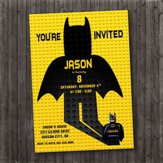Batman Birthday Invitation, Batman Party, Custom JPEG, PDF, Printable