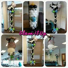 Moo la la baby shower balloons by Glam-It-Up Exclusive Designs