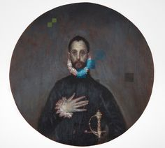 Decomposition V (after El Greco) Oil & beeswax on panel Ø Seán Molloy 2015 (Private collection) Baroque Painting, Baroque Art, Oil, Contemporary, Artist, Image, Collection, El Greco, Artists