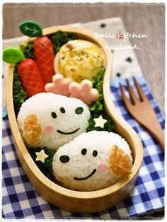 Mai Hara's Creations on Tokyo Otaku Mode Lunch Box Bento, Bento Kids, Cute Bento Boxes, Bento Kawaii, Japanese Food Art, Japanese Lunch, Eat This, Bento Recipes, Food Decoration