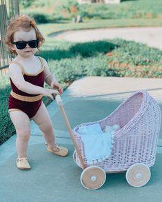 Dolls Prams, New Fashion, Wicker, Diana, Baby Strollers, Little Girls, Children, Wood, Art