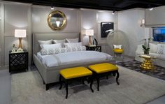20 Sophisticated Black and Yellow Bedrooms