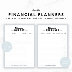 PLANNER ESSENTIALS - FINANCIAL PLANNERS - THE HARLOW PLANNERS IN STERLING  Take the headache out of managing your finances and reach your financial goals with these simple financial planners! Plan your income and spending with the monthly budgets, and easily see how much you can save. Then use the expense tracker to record actual expenses - file it on the front of your monthly bills for a fantastic summary at tax time!  > SPEND $20 AND GET 20% OFF!!! JUST USE CODE PERFECTPLANNER  > FEATURES…