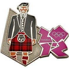 Price: $8.95 - Olympics London 2012 Olympics Scotsman Pin - TO ORDER, CLICK THE PHOTO