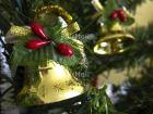 Christmas Jingle Bells | @FairMail - Fair Trade Cards Photo PPTM-0003 | Christmas, Christmas bell, Closeup, Colour image, Gold, Horizontal, Peru, Red, Shooting style, South America, Star, Tree