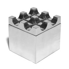 Vintage Ljungberg & Backstrom Small Aluminum Geometric Ashtray- $180- From Swedish artist duo Ljunberg & Backstrom comes this small, vintage ashtray. Its modernist design is appealing and functional, easily accommodating cigars and cigarettes. The top lifts off for easy cleaning, and the entire body is constructed from aluminum, making this piece durable and light weight. Interesting and useful, it is a piece that will never go out of style.