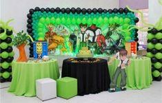 Não faltam ideias para decoração de festa infantil tema Bem 10 (Foto: informeaqui.com.br)