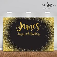 Black and Gold Backdrop Adults Party Banner Poster Gold Backdrop, Banner Backdrop, Birthday Backdrop, Happy 50th Birthday, 60th Birthday Party, Birthday Invitations, Birthday Celebration, Birthday Ideas, 50th Wedding Anniversary