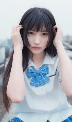 Girl Haircuts, Hairstyles With Bangs, Girl Hairstyles, Beautiful Japanese Girl, Beautiful Asian Girls, Cute Asian Girls, Cute Girls, Ulzzang Short Hair, Hot Images Of Actress