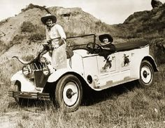 Old Cowgirl | Details about VINTAGE WESTERN COWGIRL PHOTO ANTIQUE CAR CANVAS ART