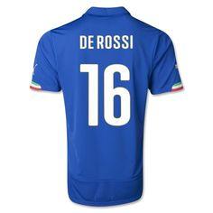 2014 Italy DE ROSSI Home Men's Soccer Jersey