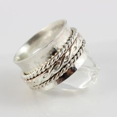 Sterling Silver Spinner Ring / Sterling by tinydaisiesdesigns, $145.00