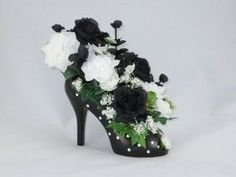 ... Polka Dot High Heel Shoe Vase