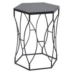 Threshold Matte Metal Accent Table - Black