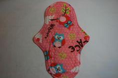 Kiki Mama Cloth Menstrual Pad Owl Print Regular Size. $6.98, via Etsy.