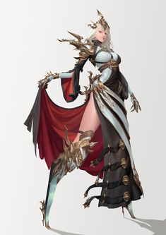 personal work - madness woman ART by Gwang-beom Kho concept artist Female Character Design, Character Design References, Character Design Inspiration, Character Concept, Character Art, Fantasy Art Women, Dark Fantasy Art, Fantasy Girl, Female Armor