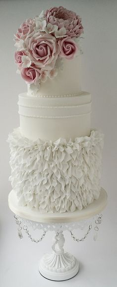 Ruffles and Roses wedding cake x | by Katie's cake box