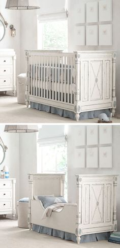 room to grow. to create a nursery that is soothing for a baby and adopts effortlessley as your child grows, choose unfussy, neutral décor and a crib that converts to a distinctive toddler bed. with natural lighting and soft-hued bedding, the room will suit your child for years to come.