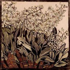 Margaret Preston - Australian Rock Lily, hand-colored woodcut