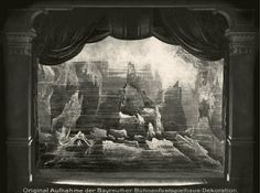 """"""" Das Rheingold """" 1.Bild Bühnenphoto ca.1905"""