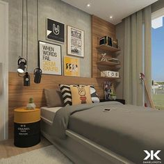 55 Modern And Stylish Young Boys Room Designs – Dream bedroom Home Office Bedroom, Boys Bedroom Decor, Small Room Bedroom, Dream Bedroom, Bedroom Furniture, Bedroom Ideas, Boys Room Design, Kids Bedroom Designs, Teenage Room