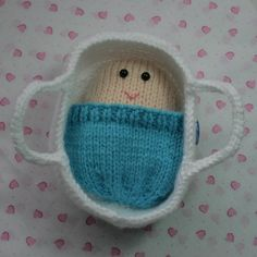 Baby Doll In A Moses Basket by TheHunnyBunnyCompany on Etsy