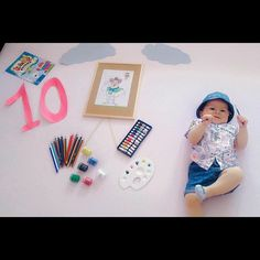 Best Baby photo shoot ideas at home and Themes DIY Cute Baby Girl Images, Cute Baby Pictures, Cute Babies Photography, Newborn Baby Photography, Monthly Baby Photos, Baby Poses, Baby Month By Month, Urban Decay, Photo Shoot